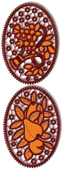 Fruit and Flowers Cutwork Set