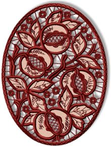 Pomegranate Cutwork Lace