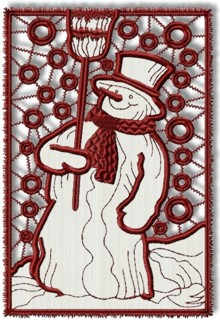 Snowman Cutwork Lace