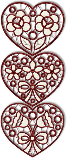 Valentine Heart Cutwork Set