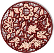 Cutwork Circle Flower Insert