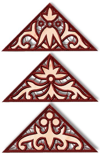 Cutwork Triangle Set