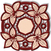 Cutwork Lace Lily Doily