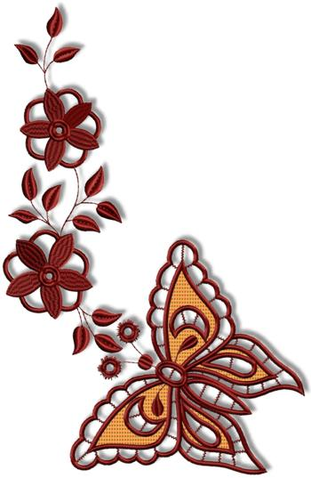 Cutwork Butterfly and Flower Set