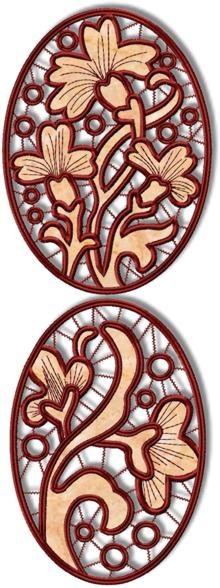 Cutwork Flower Medallions