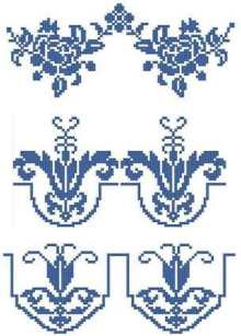 Porcelain Motif Embellishment Set