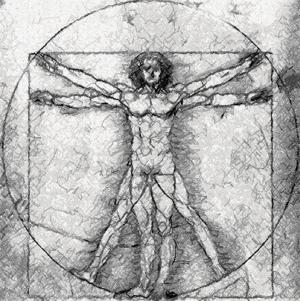 Leonardo. The Vitruvian Man.