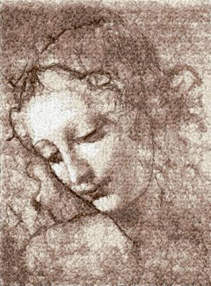 Leonardo. Head of Woman.