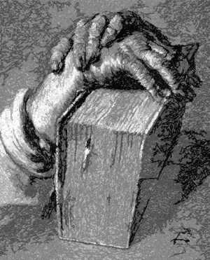 Albrecht Durer. Hands with Bible.