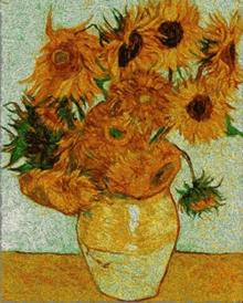 Twelve Sunflowers in a Vase by Vincent van Gogh.