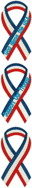 Patriotic Ribbon Set I