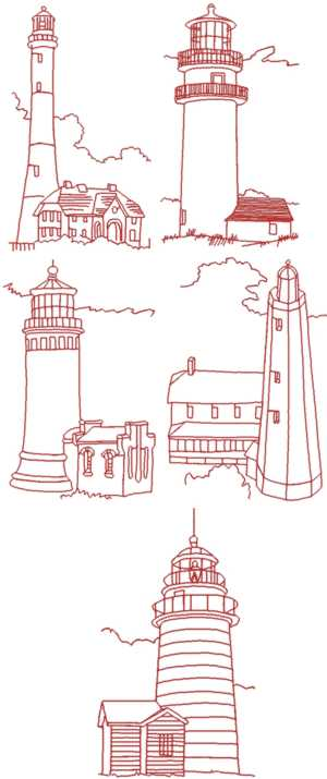 LIGHTHOUSE embroidery design - Machine Embroidery Downloads
