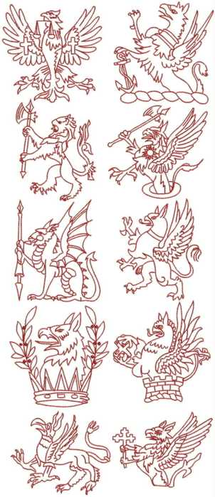 Griffin Redwork Set