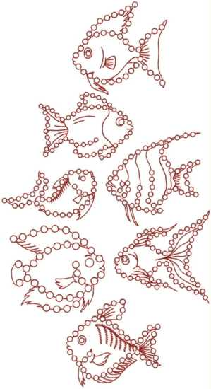 Tropical Fish Crystal Set