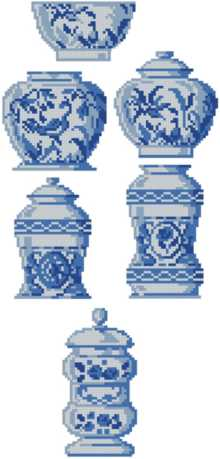 Porcelain Vase Set