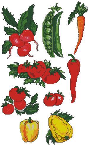 Advanced Embroidery Designs Vegetables Set