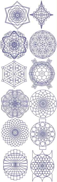 Snowflake Bluework Set