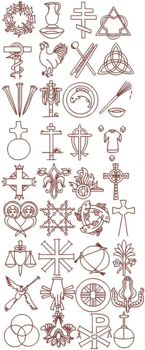 Advanced Embroidery Designs Christian Symbol Chrismon Set Mesmerizing Chrismon Patterns
