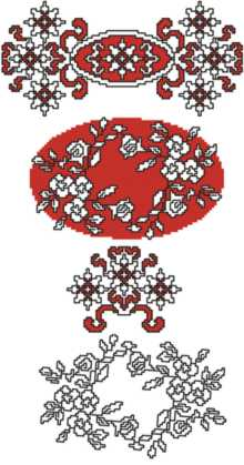 Winter Rose Motif Set