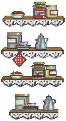 Kitchen Shelf Set