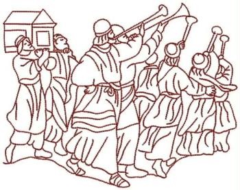 Advanced embroidery designs the walls of jericho fall for Walls of jericho coloring page