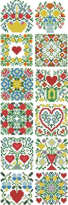 Advanced embroidery designs floral miniature set