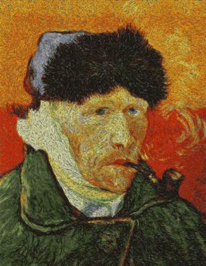 Vincent van Gogh. Self-Portrait with a Pipe.