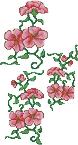 Chinese Flower Motif Set