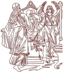 Angel Gabriel and Zechariah