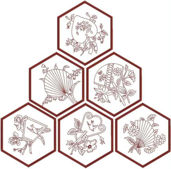 Advanced Embroidery Designs Oriental Fan Quilt Blocks