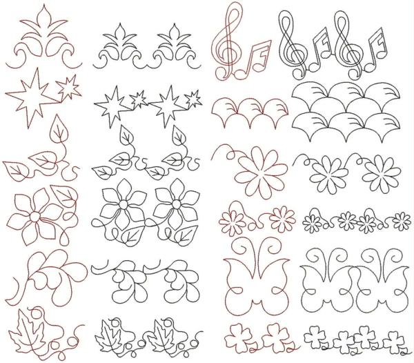Advanced Embroidery Designs Quilting Pattern Set