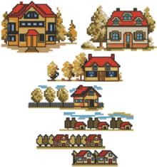 Autumn Village Set