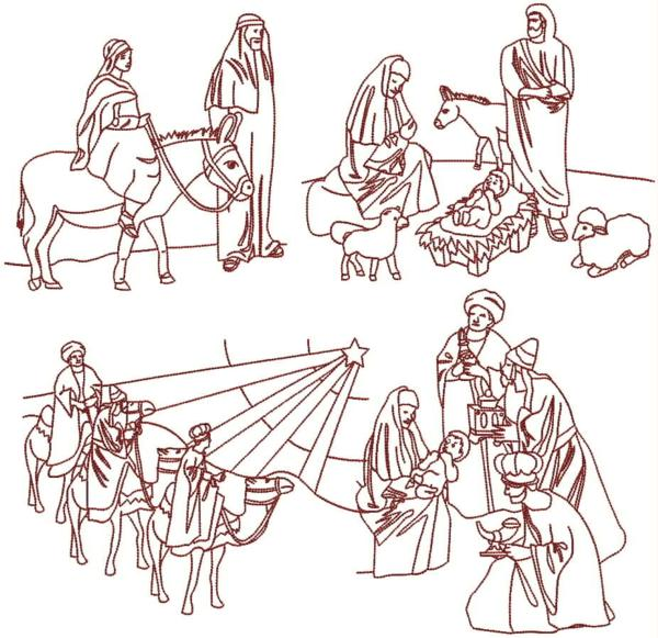 Christmas Nativity Machine Embroidery Designs