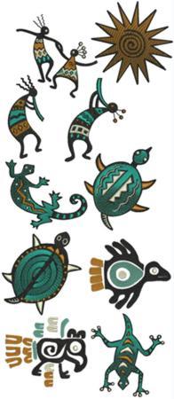 advanced embroidery designs southwestern motif applique set