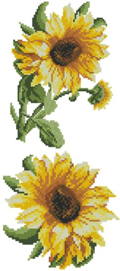 Sunflowers Machine Embroidery Cross Stitch Set Of 2 Designs