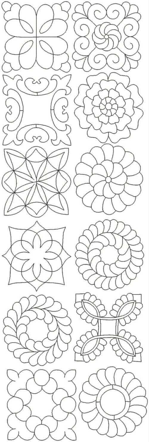 Template Patterns For Quilting : Advanced Embroidery Designs - Quilting Pattern Set II