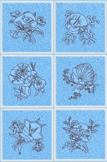 Oriental Fan Quilt Block Set II
