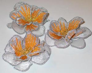 3D Veined Flower with Bulb Stamen - Free Crochet Pattern