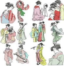 Geisha Blackwork Sets I and II