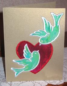 Valentine Doves Applique