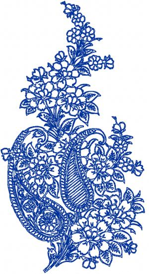 Advanced Embroidery Designs Paisley Floral Motif