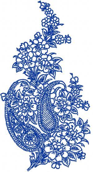 advanced embroidery designs paisley floral motif. Black Bedroom Furniture Sets. Home Design Ideas