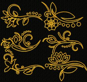 Oriental Accents: Flower Border Set