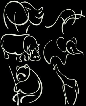 Animal Outlines Embroidery Designs - Secrets of Embroidery