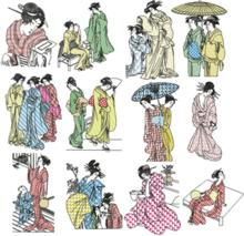 Geisha Blackwork Sets III & IV
