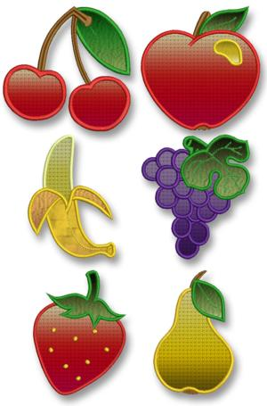 Fruit Applique Set