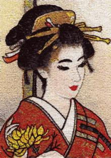 Geisha Series: Golden Chrysanthemum
