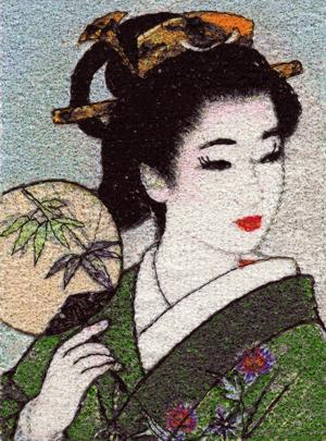 Geisha Series: Bamboo Fan