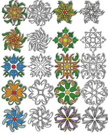 Flowers for Quilt Blocks Set