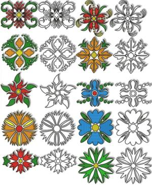 Flowers for Quilt Blocks Set II
